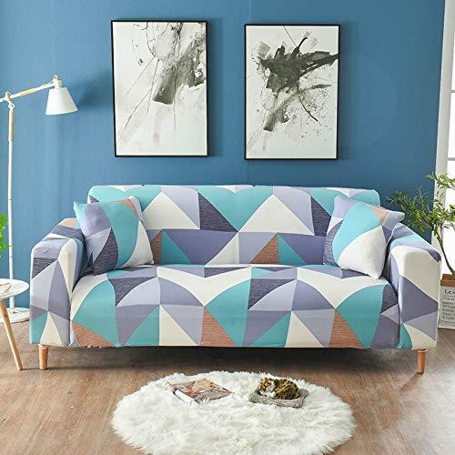 ASCV Funda de sofá elástica Moderna para Sala de Estar Fundas de sofá Funda Ajustada Funda de sofá con Todo Incluido Protector de Muebles A7 3 plazas