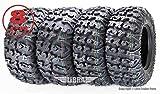 FREE COUNTRY Set 4 Premium ATV Tires 25x8-12 & 25x11-12 8PR w/Side Scuff Guard