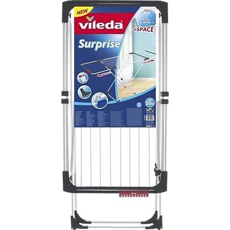 Vileda – Séchoir à linge Surprise – Étendoir à linge avec des ailes extensibles – Avec une capacité de séchage de 20 m