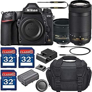 Nikon D780 DSLR Camera with AF-S NIKKOR 50mm f/1.8G Lens & 70-300mm ED Lens + 3 Memory Card Bundle