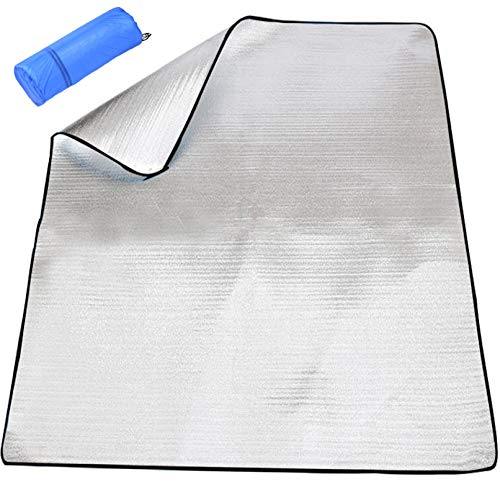 HWSHOW 銀マット キャンプ用 アルミマット ピクニック シート 断熱マット テントマット 防水 防災 車中泊 寝袋マット 六つサイズ XS〜XXL 収納袋付 約180�p*200�p