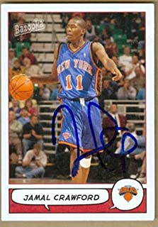 Autograph Warehouse 18896 Jamal Crawford Autographed Basketball Card New York Knicks 2005 Topps Bazooka No. 84