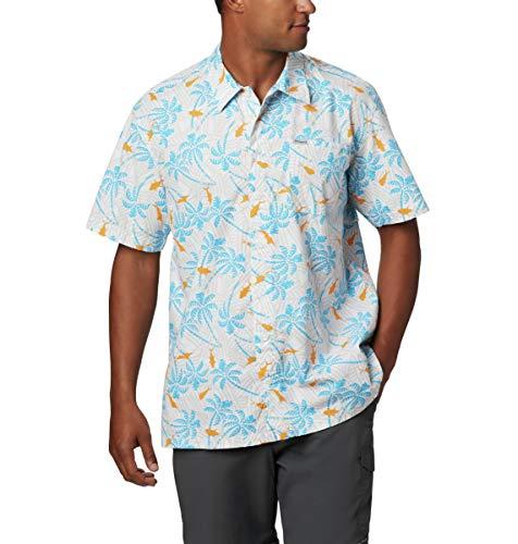 Columbia Trollers Best™ T-Shirt de Sport à Manches Courtes pour Homme, Homme, 1438981, Riptide Fish Palms, XXL