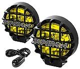 DNA Motoring FL6U+SWAMBK 6' Round Fog Lights w/Switch