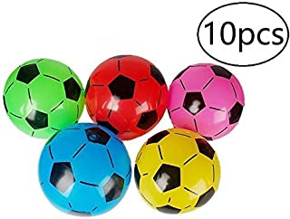 Inflatable Soccer Balls Sports Birthday Parties Inflatable Favors Decor,10pcs,Assorted