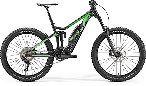 Bicicleta eléctrica de montaña Merida eONE Sixty 900, 500 Wh, color negro/verde sedoso, 2019, altura del cuadro de 47 cm