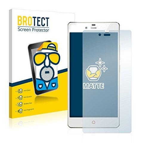 BROTECT 2X Entspiegelungs-Schutzfolie kompatibel mit ZTE Nubia Z9 Mini Bildschirmschutz-Folie Matt, Anti-Reflex, Anti-Fingerprint