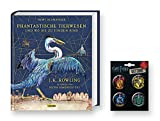 Harry Potter SCHMUCKAUSGABE: Phantastische Tierwesen und wo sie zu Finden sind (vierfarbig illustrierte Schmuckausgabe) - Hardcover + 1. original Button
