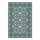BirdsEcho Piso de Vinilo 60x80cm Estera de la Sala PVC Cocina Sala de Estar Baño Alfombra de Linóleo Hogar Moderno Decoración Alfombra- Azulejos de Damasco