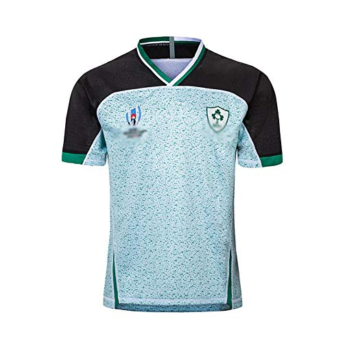 Rugby Jersey, 2019 Coppa Del Mondo Di Rugby Irlanda Casa E Pullover Assente, Rugby Fan Abbigliamento, Rugby T-shirt, Uomo Vestiti Di Addestramento Di Rugby (S-5XL) ( Color : Away , Size : X-Large )