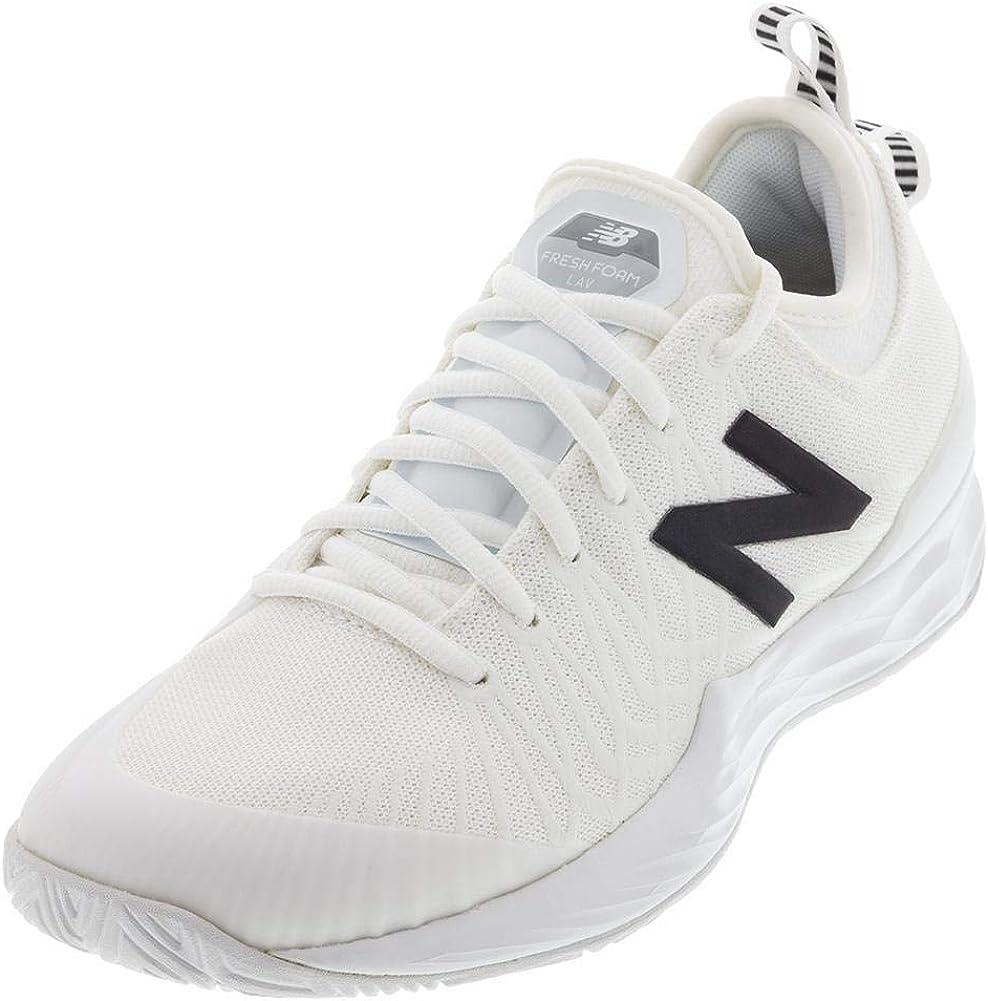 New Balance Women`s Fresh Foam LAV B Width Tennis Shoes Lemon Slush and White ()