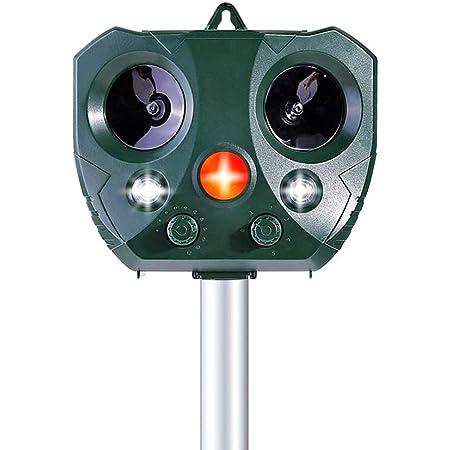Uccelli e Volpi Adatto agli Giardino,Fattoria,Cortile Everenty Repellente Gatti Ultrasuoni Solare IP66 Impermeabile a 4 Modalit/à Regolabile Repeller Animali Ultrasound Repellente a Adatto per Gatti