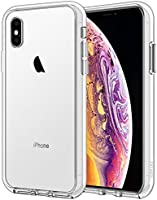 JETech Case for iPhone Xs and iPhone X, Shock-Absorption Bumper Cover, Anti-Scratch Clear Back (HD Clear)