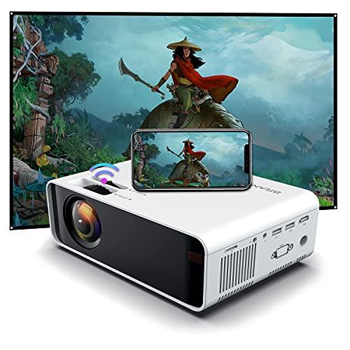 SOTEFE®WiFi Vidéoprojecteur-Mini Projecteur Portable 6000 Lumens Full HD 1080P Rétroprojecteur Sans fil...