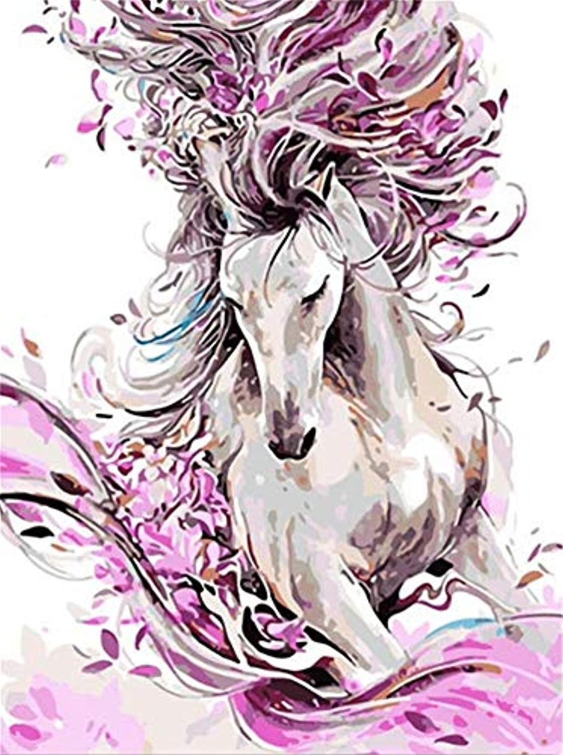 Jigsaw Puzzle 1000 Piece Abstract White Horse Classic Puzzle DIY Kit Wooden Toy Unique Gift Home Decor