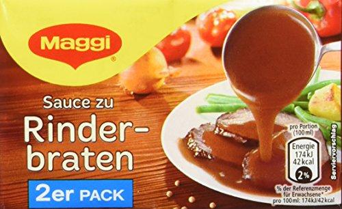 Maggi Delikatess Doppelpack Soße zu Rinderbraten, 18er Pack (18 x 500 ml)
