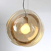 Led kleurrijke glazen bal yo-yo plafondlamp geel warm licht ijzer kroonluchter dining woonkamer studie slaapkamer eenvoudi...