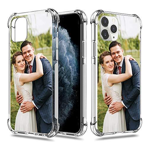 SHUMEI - Carcasa para iPhone 11 Pro Max, 6,5 pulgadas, personalizada, absorción de golpes, suave y transparente, TPU, imagen HD