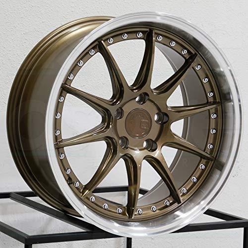 AodHan DS-07 Wheel - Bronze w/Machined Lip: 18x8.5 Wheel Size; 5x114.3 Lug Pattern; 73.1mm Hug Bore; 35mm Off Set.