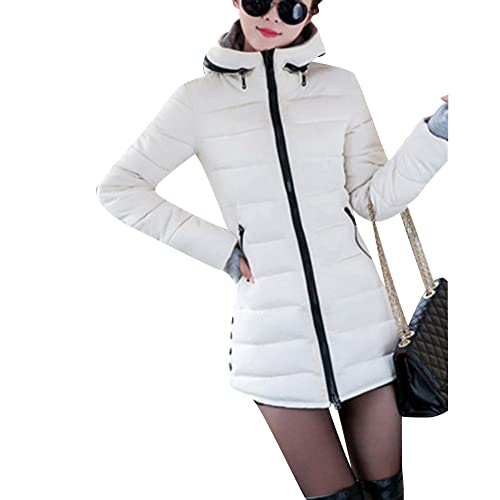 a5d519fb8ff8 Women s Long Down Coat Hooded Ultralight Packable Jacket Warm Coats Outwear