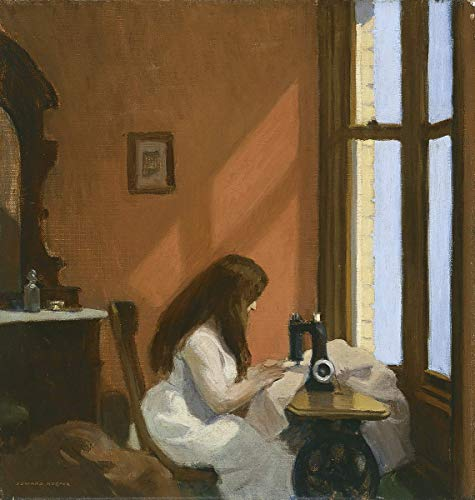 Berkin Arts Edward Hopper Giclee Lienzo Impresión Pintura póster Reproducción Print(Chica en una máquina de Coser) #XFB