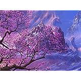 YYZK 風景ペイント数字でペイントされた家の装飾キット描画キャンバスDIYオイルカラーリング絵画写真数字で 40*50 フレームレス