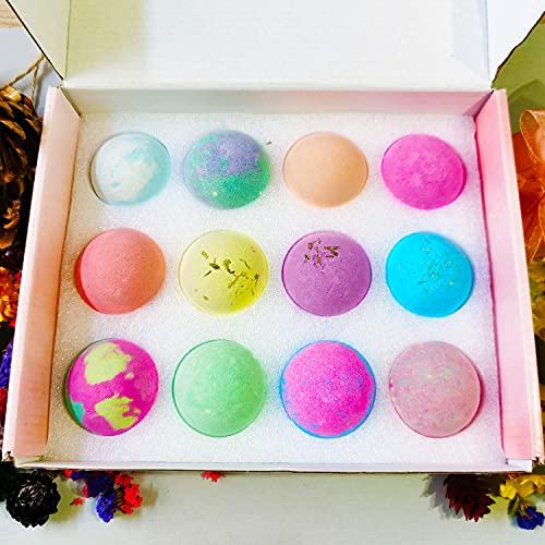 ONCEMORE Bath Bomb Gift Set, Handmade Natural Spa Bubble Bathbomb, Fizzy Salt Bathbomb, Sea Salt Home Spa Gift, Shower Bombs Spa Kit(12x2.5oz)