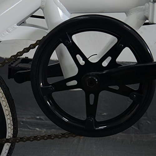 Star Eleven Vélo pliable double disque en aluminium pour adulte Blanc
