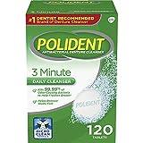Polident 3 Minute, Antibacterial Denture Cleanser, 120 ea - 2pc