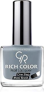 طلاء اظافر من جولدن روز , اللون الفضي رقم 124