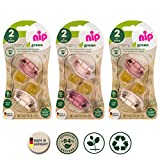 nip Schnuller CHERRY Green Gr.2 ab 6 Motane, Multi-pack for Girls, 6er Pack