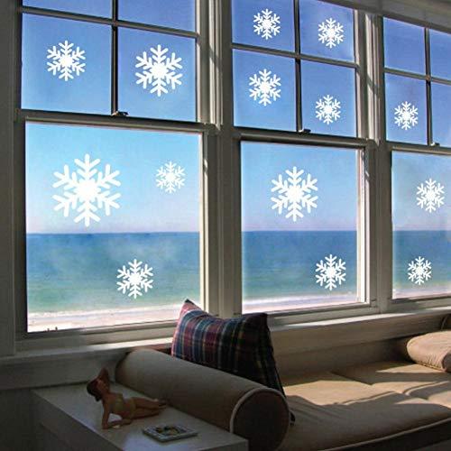 QWHUA Kerstmis Witte Sneeuwvlokken Sticker Ramen Glazen Kast Muurstickers Jaar Thuis Decoratie Muurstickers Wallpaper