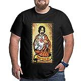 Charles-Manson Camisetas para Hombre Tallas Grandes Xl-6xl Camisetas de Moda de algodón de Manga Corta XXL