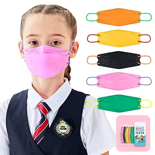 25PCS KF94 Disposable Kids Face Mask Muticolor, 3 Ply Breathable child Maks