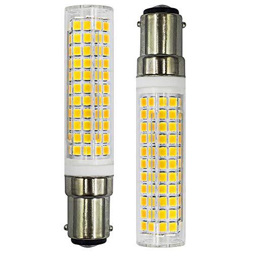 B15D LED Glühbirne, 7W 100W Halogen-Equivalent SBC Kleine Bajonett LED-Birnen, 230V Nicht dimmbar Super Hell Kaltweiß 6500K, Für Nähmaschinen/Schrank Licht, 2er Pack [MEHRWEG]