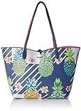 Desigual Bols_piñacolada Capri, Shoppers y bolsos de hombro para Mujer, Azul (Navy), 28x13x30 cm (B x H x T)