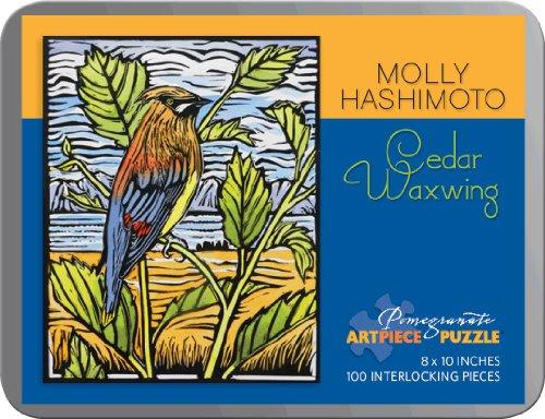 Molly Hashimoto - Cedar Waxwing: 100 Piece Puzzle