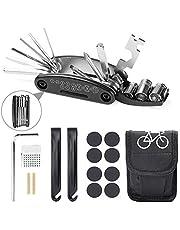 Etercycle Fiets Tool Kit, 16 in 1 multifunctioneel fietsenreparatietool, mountainbike reparatiegereedschap met patchkit en bandenhefbomen