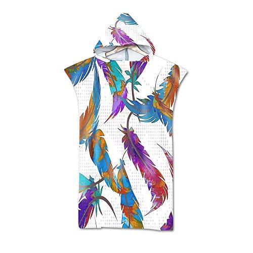 Volwassenen Zwemmen Handdoek Hooded Surf Poncho, Unisex Microfiber Bedrukt Badjas Met Kap, Geschikt Om Te Surfen Zwempak