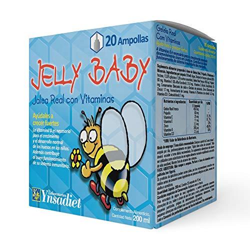 Jalea real para Niños– Jalea Real con propóleo Infantil – Própolis - vitamina C – Vitamina D3 – Vitamina E y Minerales -Mayor energía y vitalidad - Aumenta las defensas –Jelly Baby (20 VIALES)