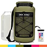 Boncas Waterproof Backpack, 20L Dry Bag with Waterproof Phone Pounch, Roll Top Bag Dry Sack Waterproof Dry Bag Perfect...