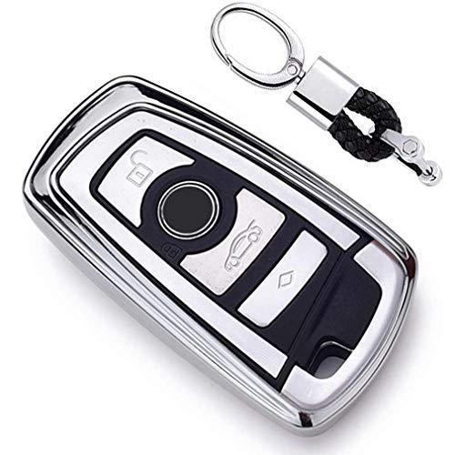 Argenté Auto clés Sac Housse de Protection pour BMW 1 3 4 5 6 7 Series BMW X3 X4 X5 X6 M3 M4 M5 M6 Remote Smart 3 4 Buttons