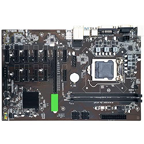 newwyt B250-BTC Miner Placa Base LGA 1151 DDR4 Memoria 12 X PCI-E 16X Ranura para Tarjeta gráfica SATA3.0 USB3.0 para Eth BTC Miner