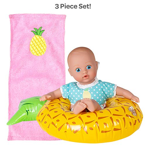 Adora Water Baby Doll, SplashTime Baby Tot Sweet Pineapple 8.5 inch Doll for Bathtub/Shower/Swimming Pool Time Play