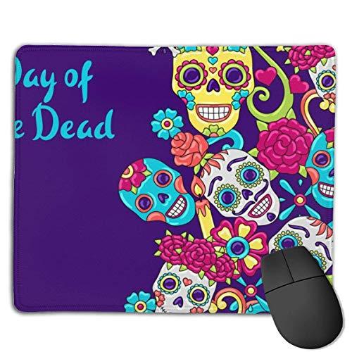 Mousepad Day Dead Einladungskarte Zuckerschädel Mittlere Geschwindigkeit Soft Gaming Mouse Mat