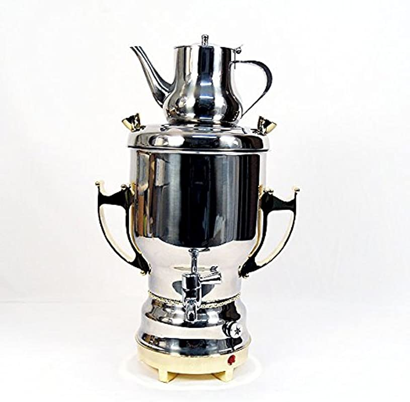Home N Kitchenware Collection 4 5L Electric Samovar W Teapot Stainless Steel Silver Gold Persian Teakettle Teapot