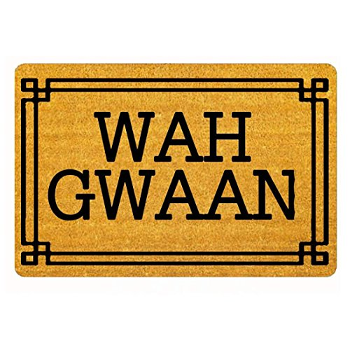 WAH GWAAN Funny Door Mat Indoor/Outdoor Rubber Non Slip Doormat For Patio Front Door