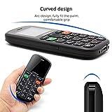 artfone Seniorenhandy ohne Vertrag | Dual SIM Handy mit Notruftaste | Rentner Handy große Tasten | 2G GSM Handy| |1000 mAh Akku Lange Standby-Zeit | Großtastenhandy - 2