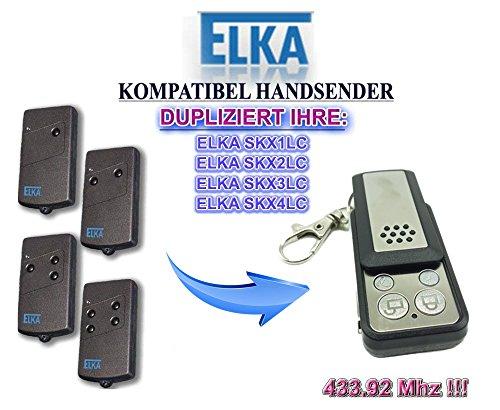 ELKA Universal Garagentor Fernbedienung Sender Geeignet für SKX1LC, SKX2LC, SKX3LC, SKX4LC, 4 Kanal Kompatibel Handsender, 433.92 Mhz