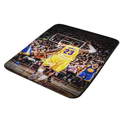 Lebron Lakers Basketball Painting - Mouse Pad Thick Neoprene Rectangle for Home Office & Gamers (use as a Water Proof hot pad,Trivet,Mousepad)